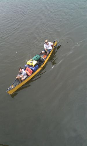 Loaded and heading down river